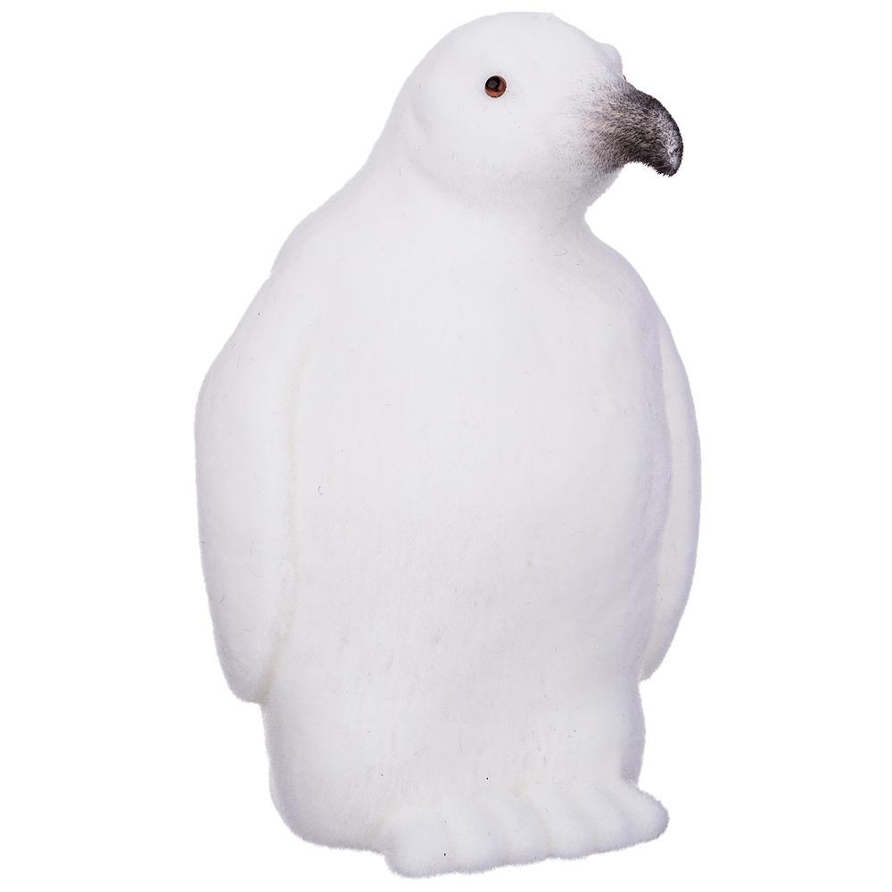 Фигурка декоративная Lefard Пингвин белый велюр, 866-109, белый, 10 х 9 х 15 см коробка подарочная veld co giftbox трансформер разноцветные горошки цвет белый 10 3 х 10 3 х 9 8 см