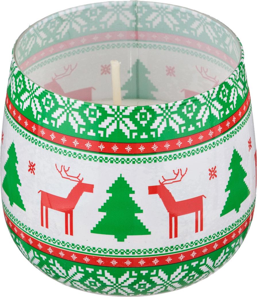 Свеча праздничная Lefard Sweet Christmas, 348-471, разноцветный, цветочный аромат, 8 х 7 см