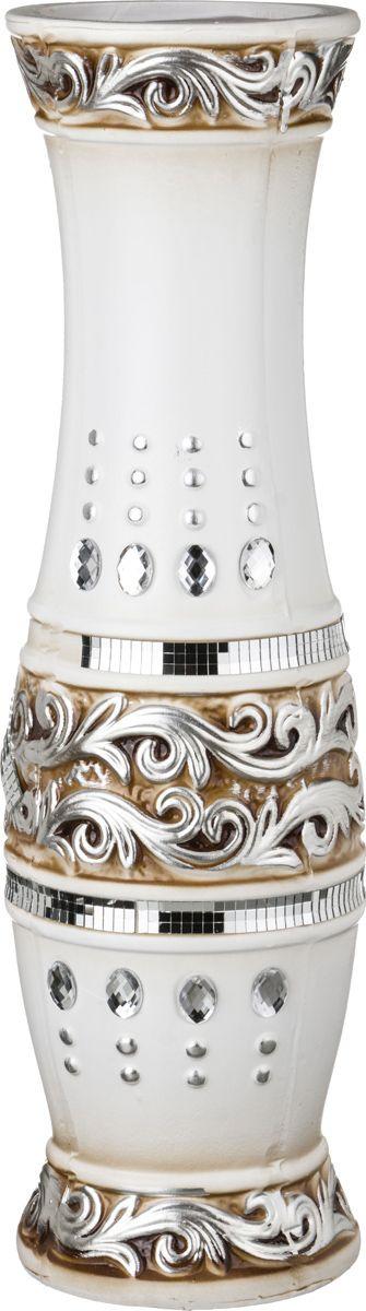 Ваза Lefard Этника, 110-352, белый, 16 х 16 х 60 см ваза lefard diamantes 64 291 белый 12 х 12 х 24 см
