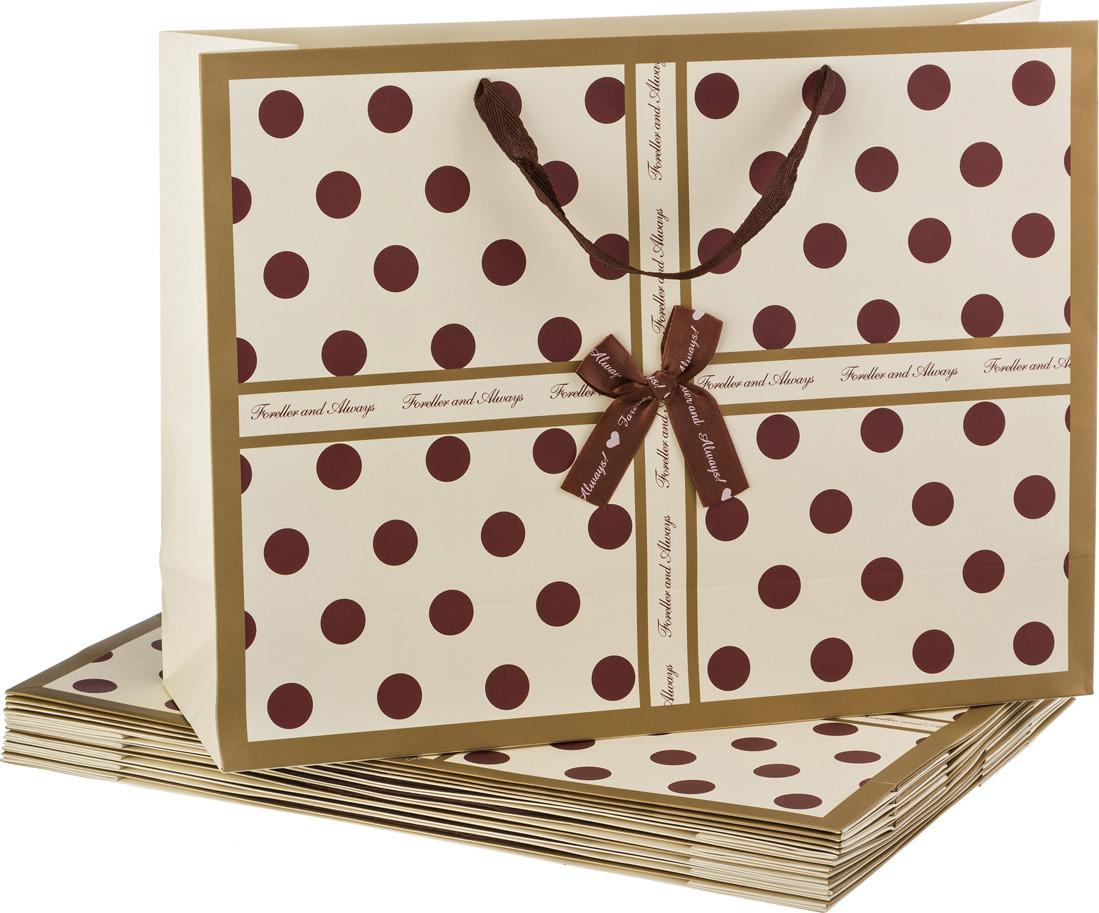 Пакеты бумажные Lefard, 521-077, 47 х 35 х 14.5 см, 10 шт