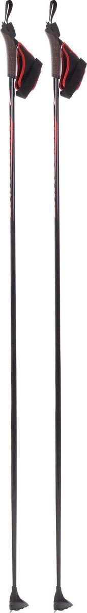 Палки лыжные мужские Madshus Activesonic Ski, A19EMDXP003-99, черный, длина 130 см ботинки лыжные madshus ct120 ski цвет черный размер 42