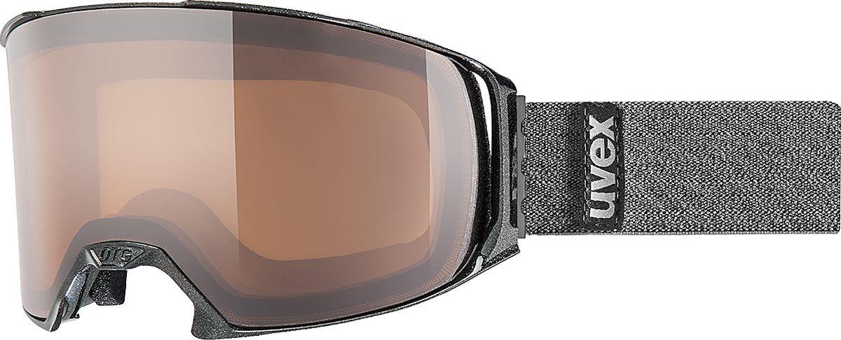 Маска горнолыжная мужская Uvex OTG Pola Goggles, 1630-2021, черный uvex маска uvex cevron