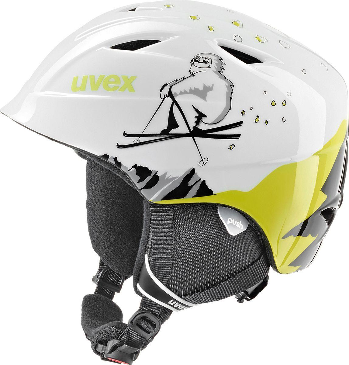 Шлем горнолыжный для мальчика Uvex Airwing 2 Kid's Helmet, 6132-16, зеленый. Размер XXS шлем горнолыжный для мальчика uvex airwing 2 kid s helmet 6132 46 синий размер xxs
