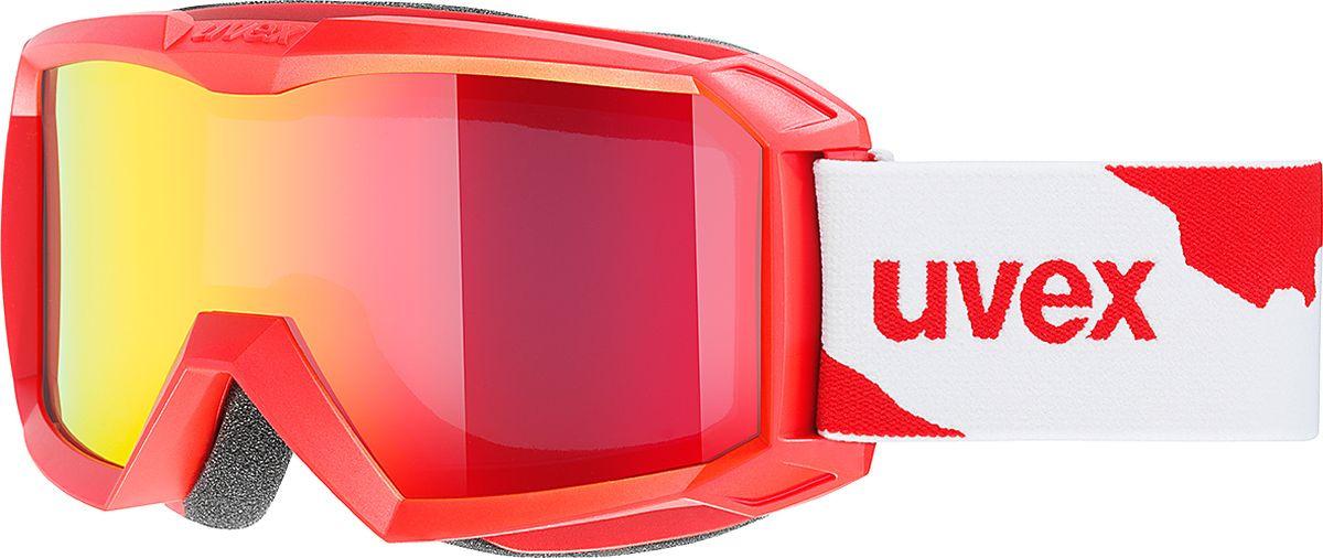 Маска горнолыжная для мальчика Uvex Flizz LM Kid's Goggles, 3827-3026, красный uvex маска uvex cevron