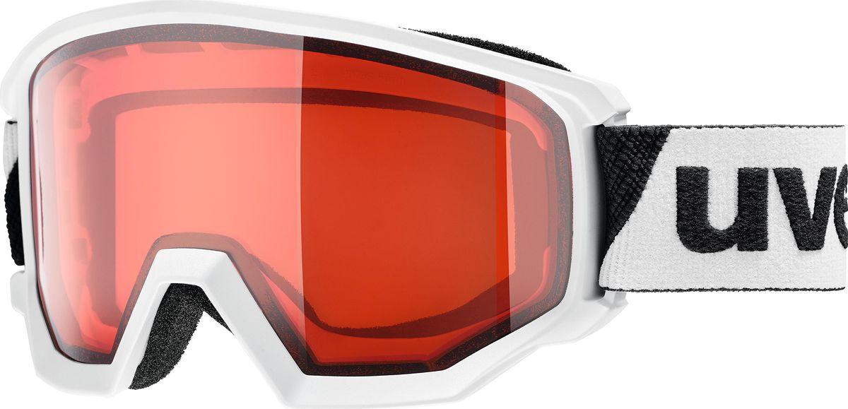 Маска горнолыжная женская Uvex Athletic LGL Goggles, 0522-2130, белый uvex маска uvex cevron
