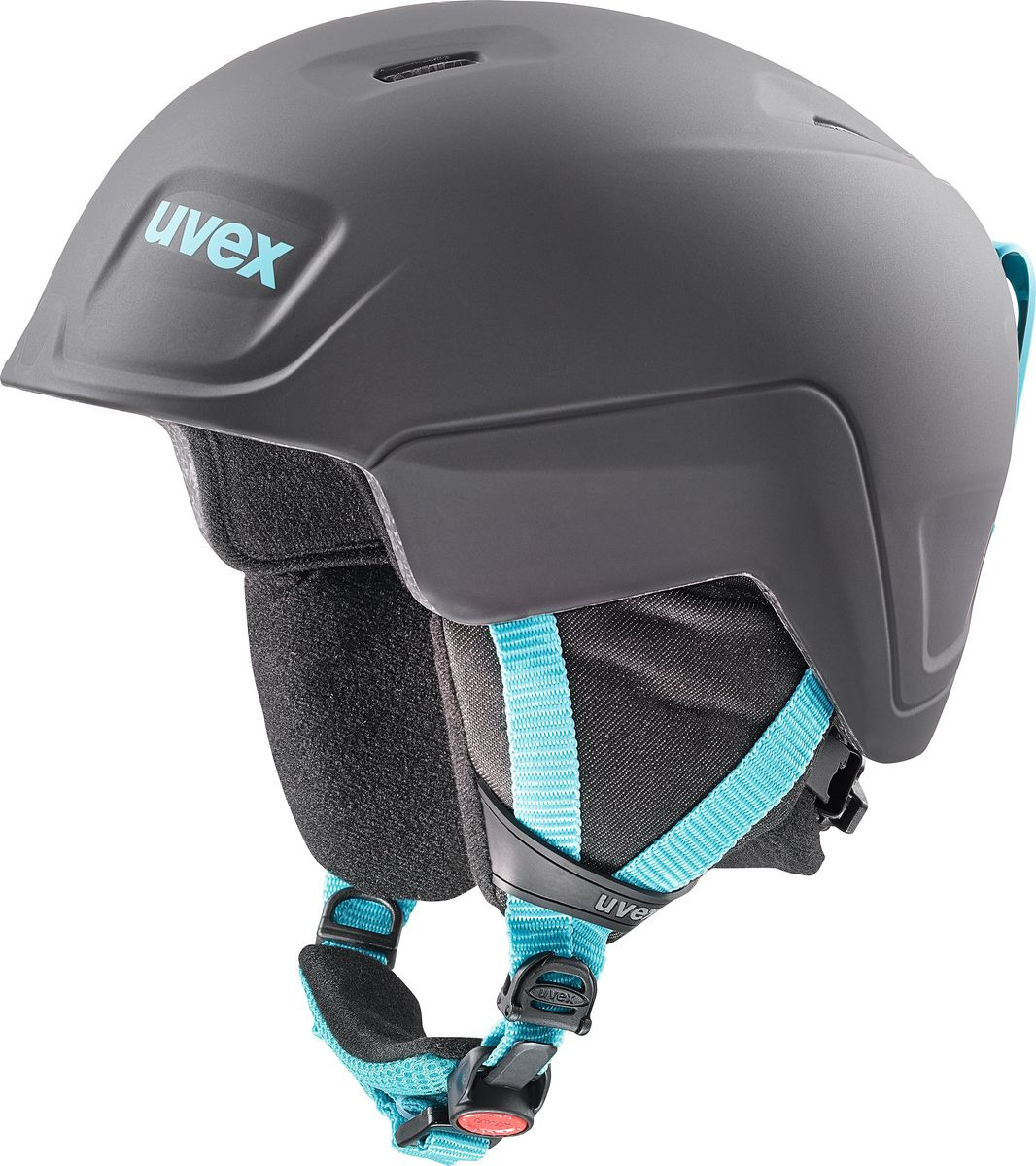 Шлем горнолыжный для мальчика Uvex Manic Pro Kid's Helmet, 6224-24, черный, синий. Размер 46/50 шлем горнолыжный для мальчика uvex airwing 2 kid s helmet 6132 46 синий размер xxs