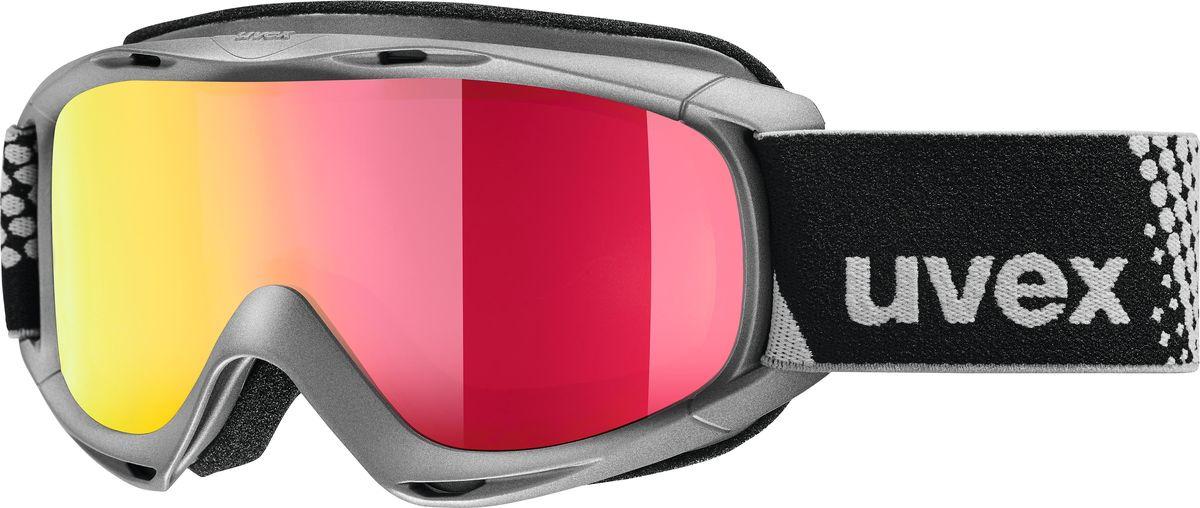 Маска горнолыжная для мальчика Uvex FM Kid's Goggles, 0026-5030, черный uvex маска uvex cevron