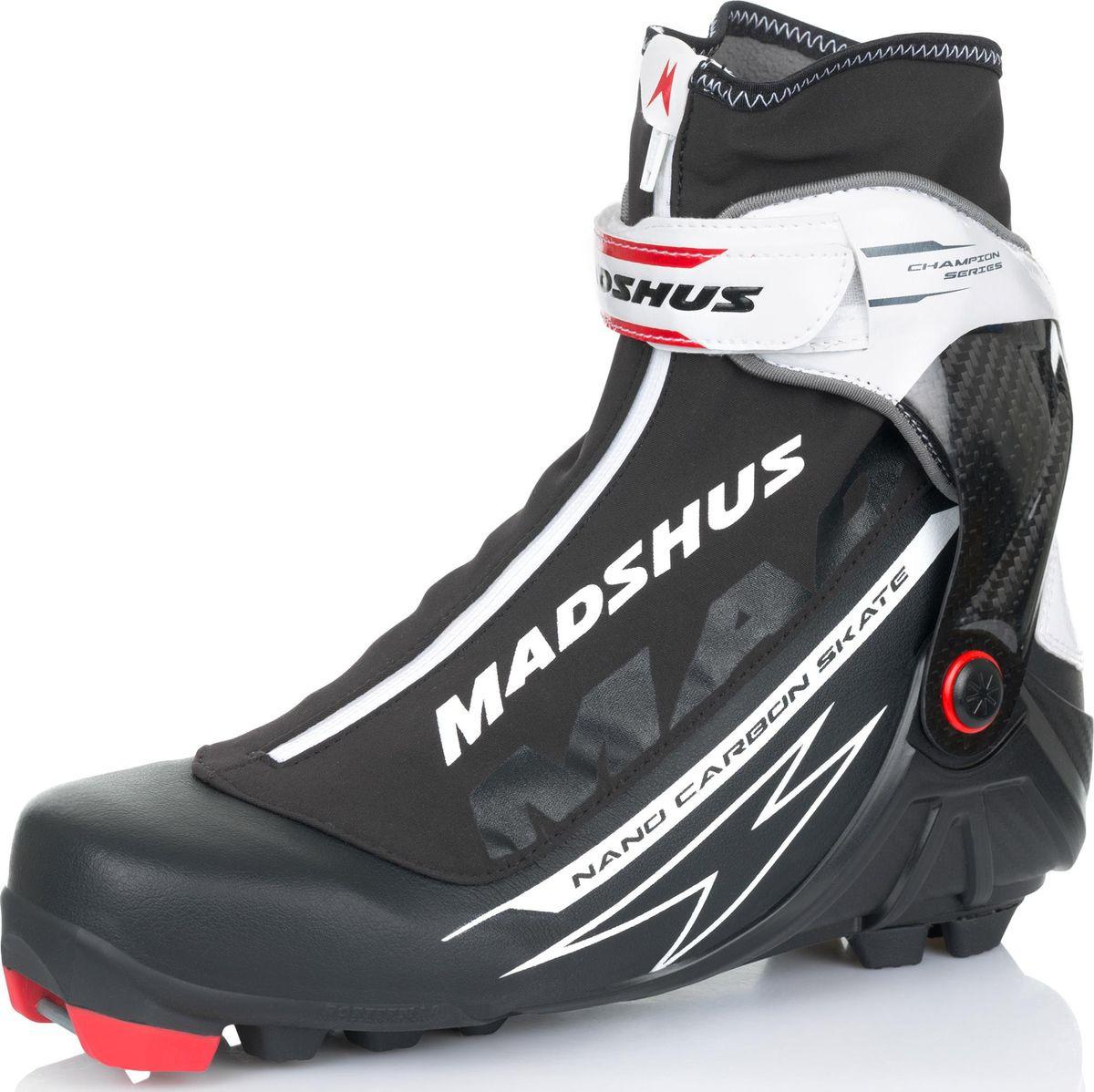 Ботинки лыжные мужские Madshus NANO CARBON SKATE, цвет: белый, черный. N174001. Размер 45 детские лыжные ботинки для конькового хода concept skate