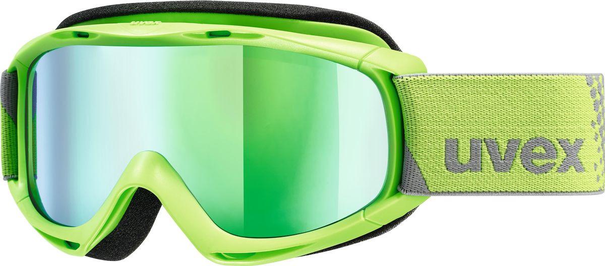 Маска горнолыжная для мальчика Uvex FM Kid's Goggles, 0026-7030, зеленый uvex маска uvex cevron