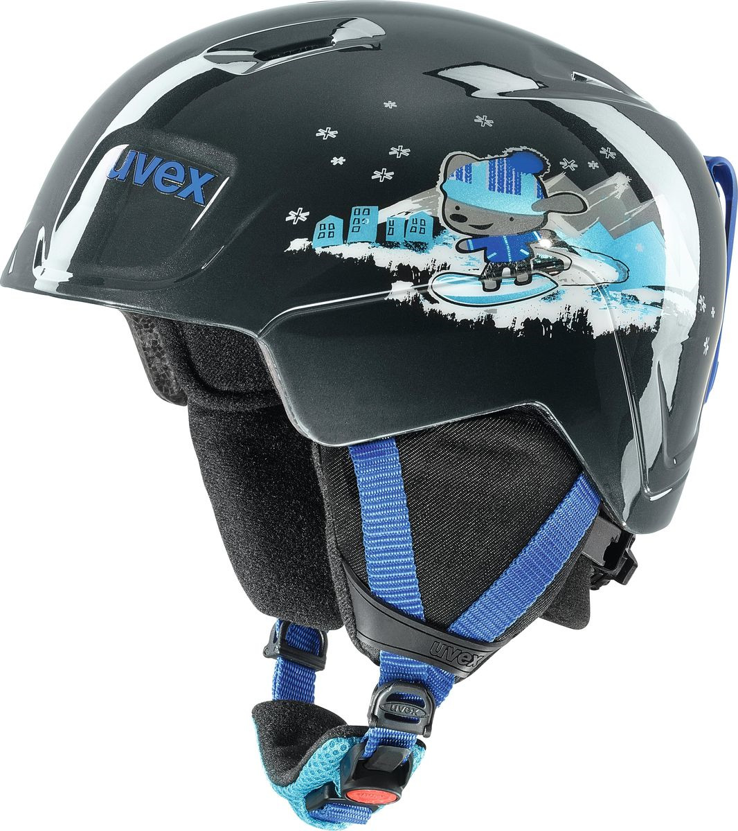 Шлем горнолыжный для мальчика Uvex Manic Kid's Helmet, 6226-20, черный. Размер 46/50