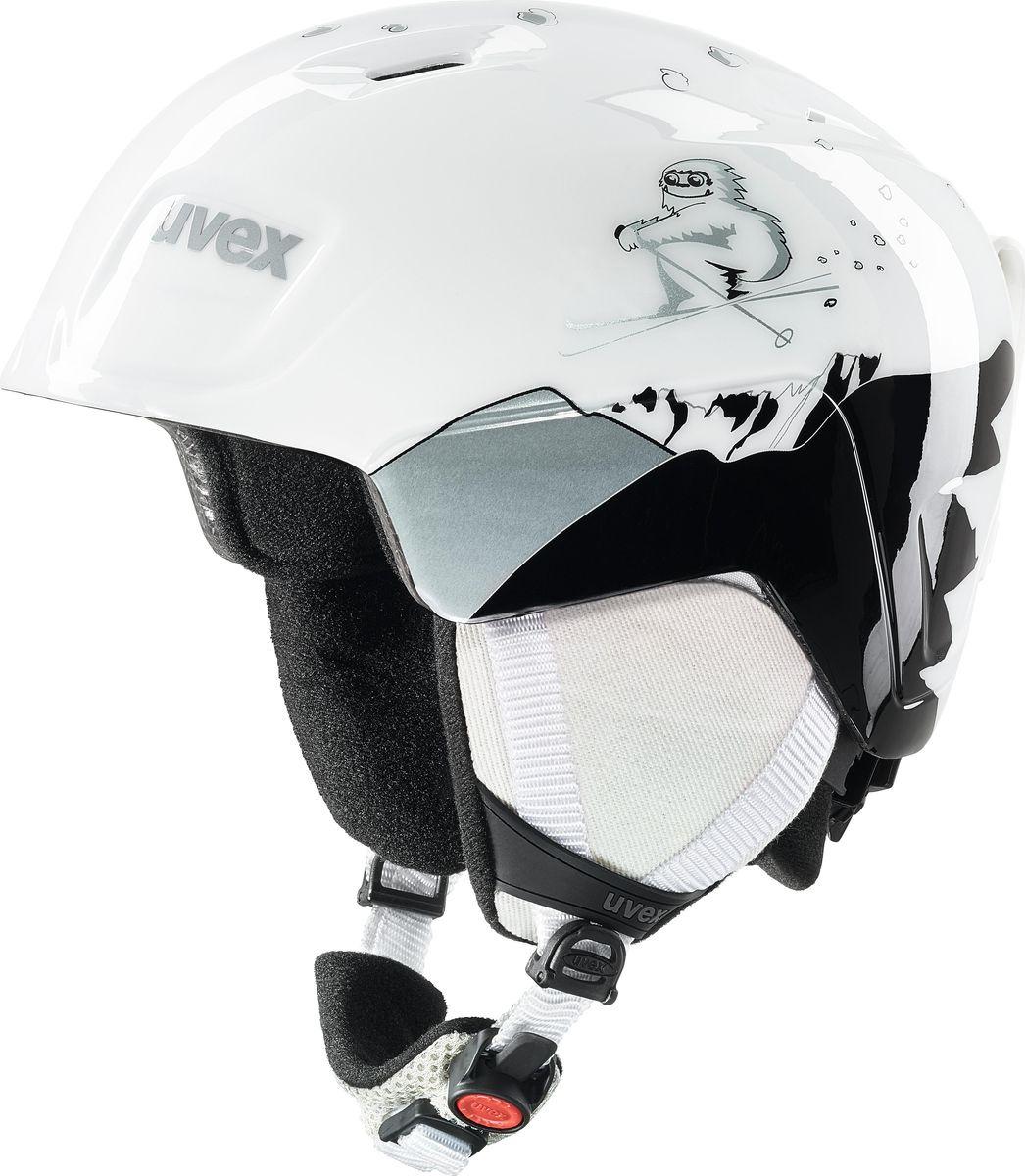 Шлем горнолыжный для девочки Uvex Manic Kid's Helmet, 6226-10, белый. Размер 46/50 шлем горнолыжный для мальчика uvex airwing 2 kid s helmet 6132 46 синий размер xxs