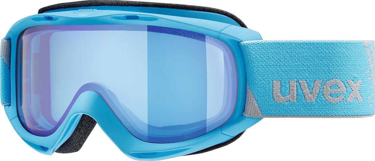 Маска горнолыжная для мальчика Uvex FM Kid's Goggles, 0026-4030, голубой uvex маска uvex cevron