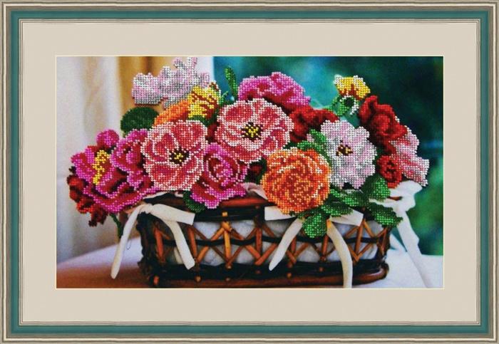Набор для вышивания Galla Collection Набор для вышивания бисером «Цветочная корзина», 35х21 см, Л330 наборы для вышивания galla collection набор для вышивания бисером святой виктор 13х16 см