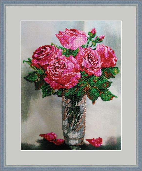 Набор для вышивания Galla Collection Набор для вышивания бисером «Розовый аромат», 30х40 см, Л338 все цены