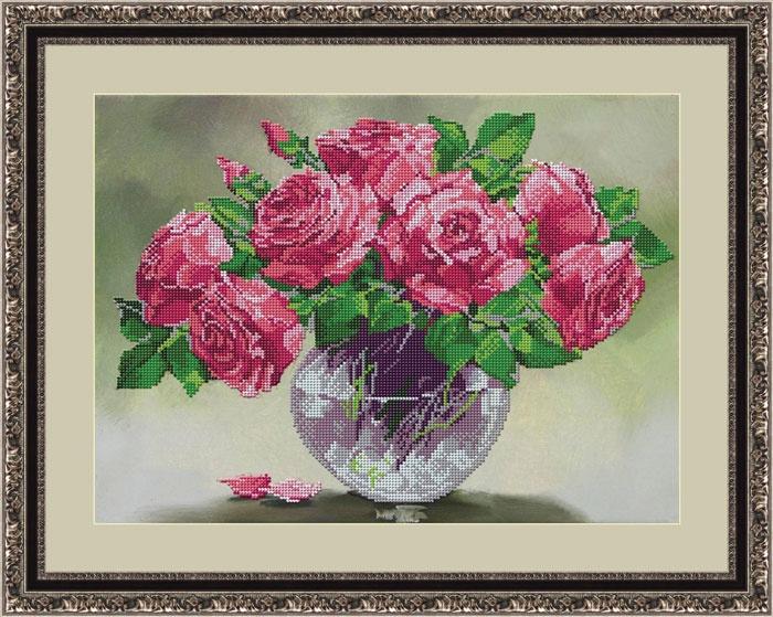 Набор для вышивания Galla Collection Набор для вышивания бисером «Розовый шарм», 40х29 см, Л337 цена и фото