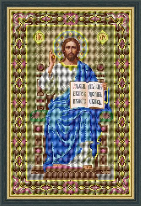 Набор для вышивания бисером Икона Спаситель на престоле, 21 х 32 см икона юлия бисер