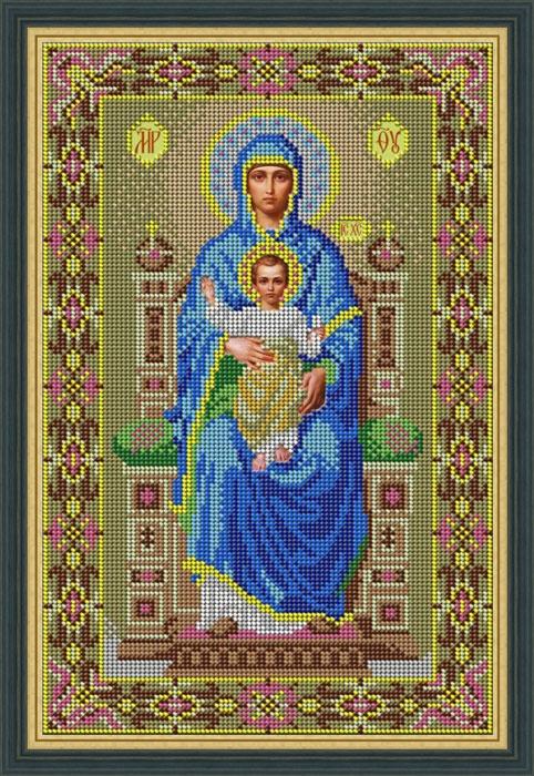 Набор для вышивания бисером Икона Богородица на престоле, 21 х 32 см икона юлия бисер