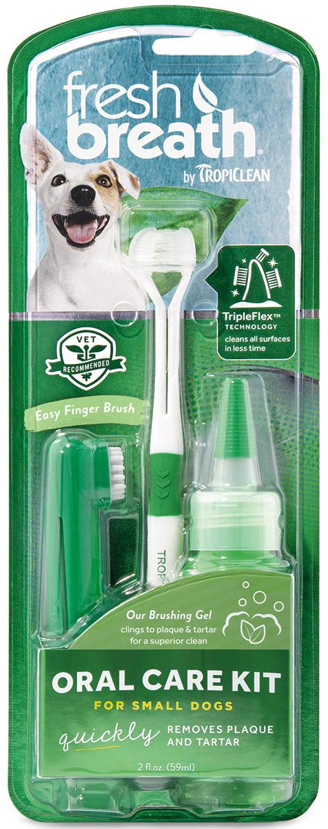 Набор для ухода за зубами для мини-пород Tropiclean Свежее дыхание, 1282 рич зубная щетка fresh breath средняя