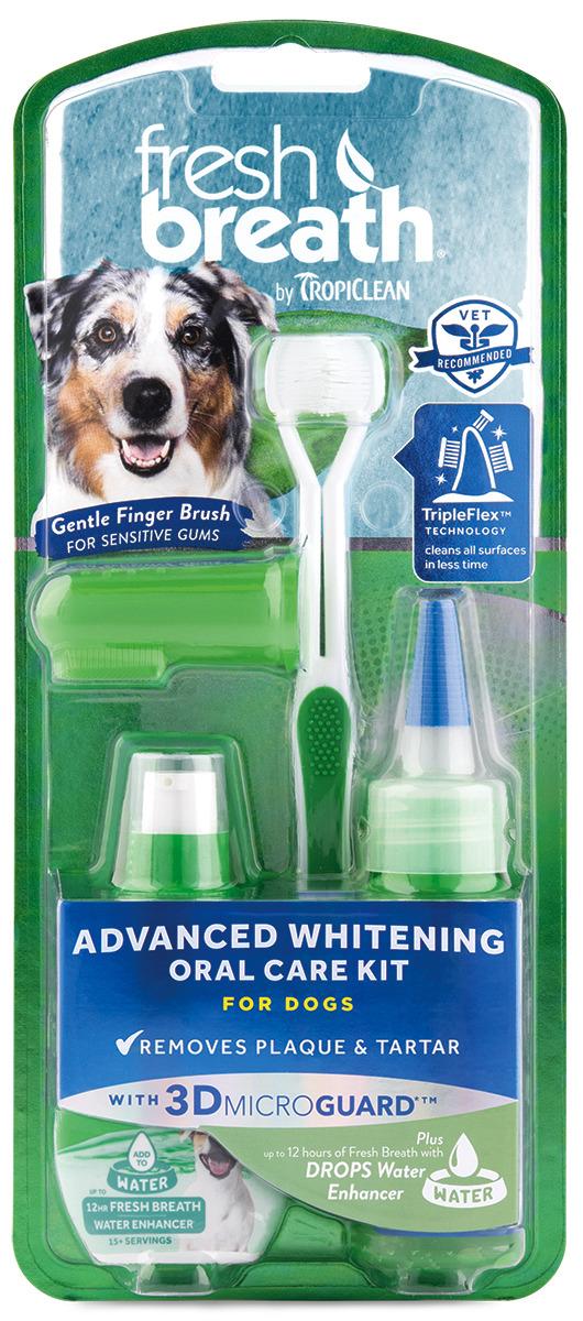 Отбеливающий набор для ухода за зубами для собак Tropiclean Свежее дыхание, 2272 рич зубная щетка fresh breath средняя