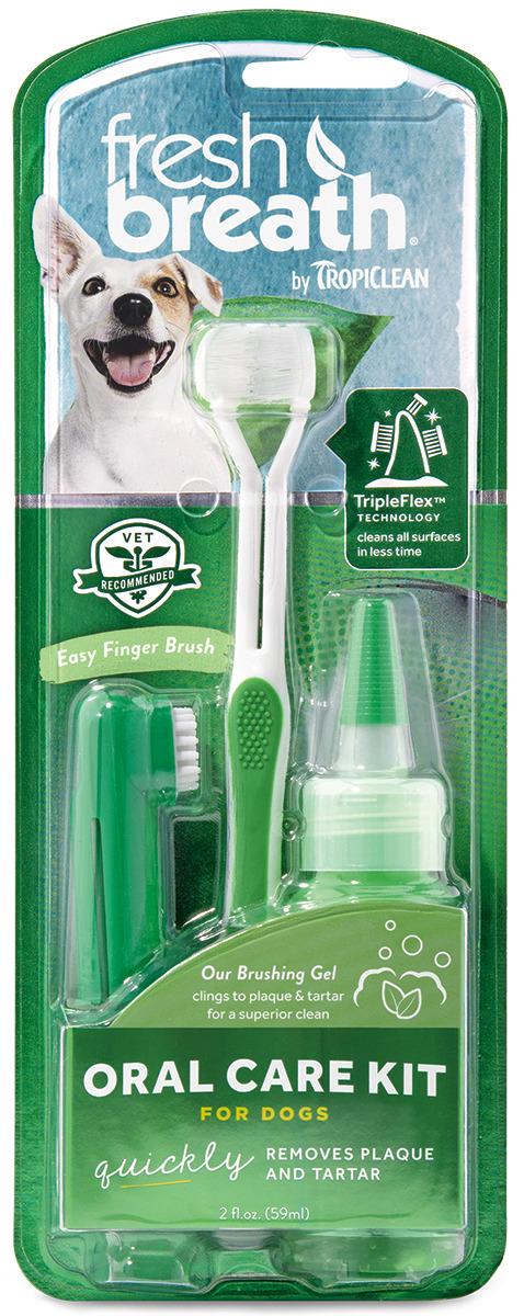 Набор для ухода за зубами для собак Tropiclean Свежее дыхание, 1299 рич зубная щетка fresh breath средняя
