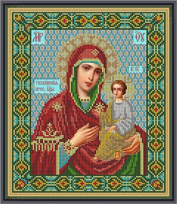 Набор для вышивания Galla Collection Набор для вышивания бисером «Икона Божией Матери Тихвинская», 22 х 26 см, И055 все цены