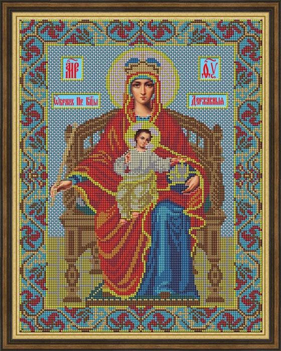 Набор для вышивания Galla Collection Набор для вышивания бисером «Икона Божией Матери Державная», 28 x 36 см, И031 цена и фото