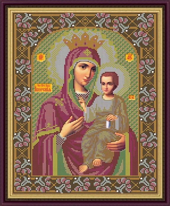 Набор для вышивания бисером «Икона Божией Матери Иверская», 28 x 35 см икона юлия бисер