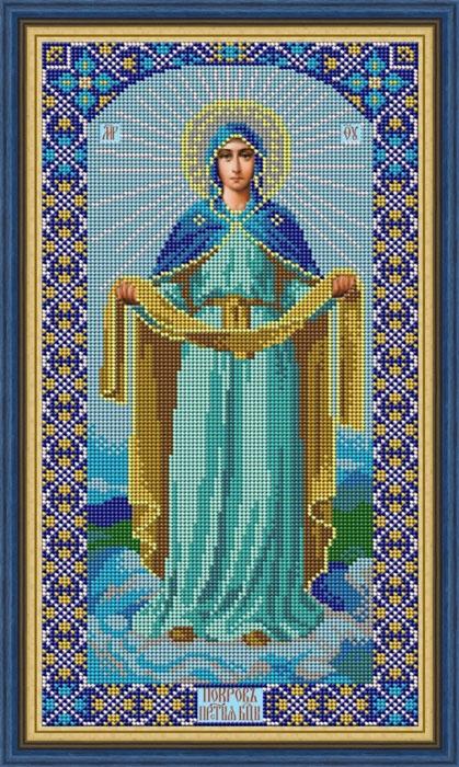 Набор для вышивания Galla Collection бисером «Икона Покров Божией Матери», 20 х 36 см светлица набор для вышивания бисером архангел михаил бисер чехия 1042701