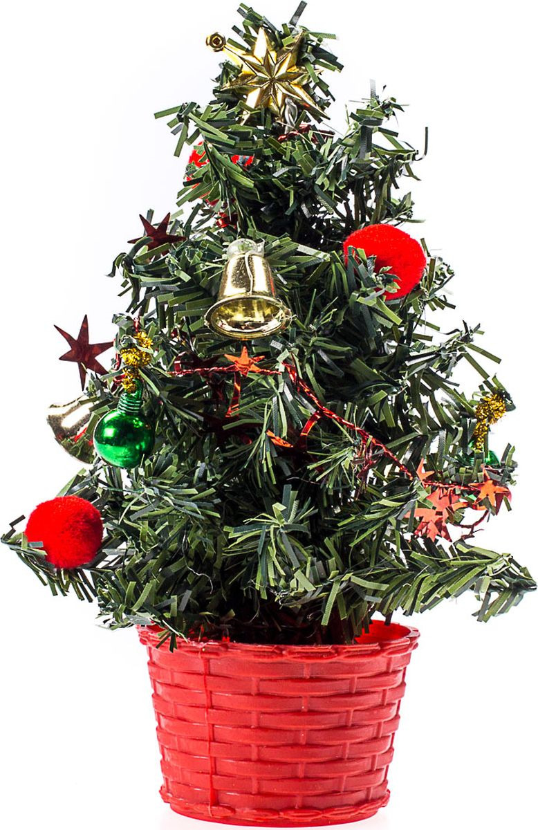 Елка настольная Vittorio Richi, с игрушками, FL1118K11EL4005, зеленый, красный, 20 см елка искусственная наряженная