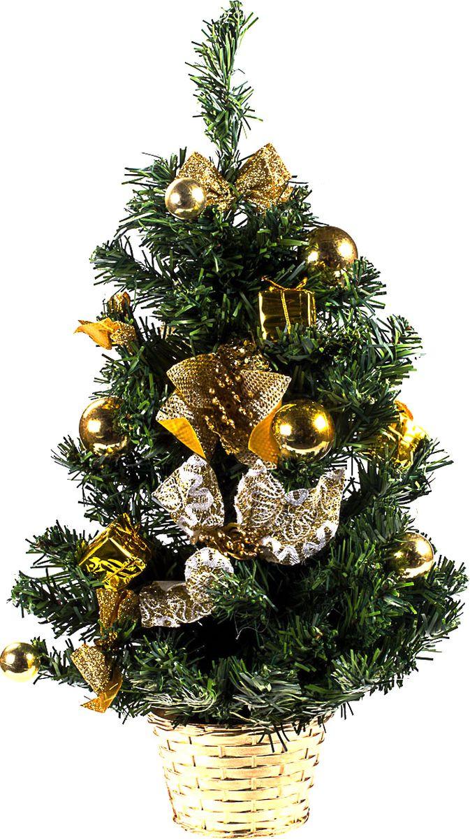 Елка настольная Vittorio Richi, с игрушками, FL1118K11EL5089, зеленый, золотистый, 50 см елка искусственная наряженная