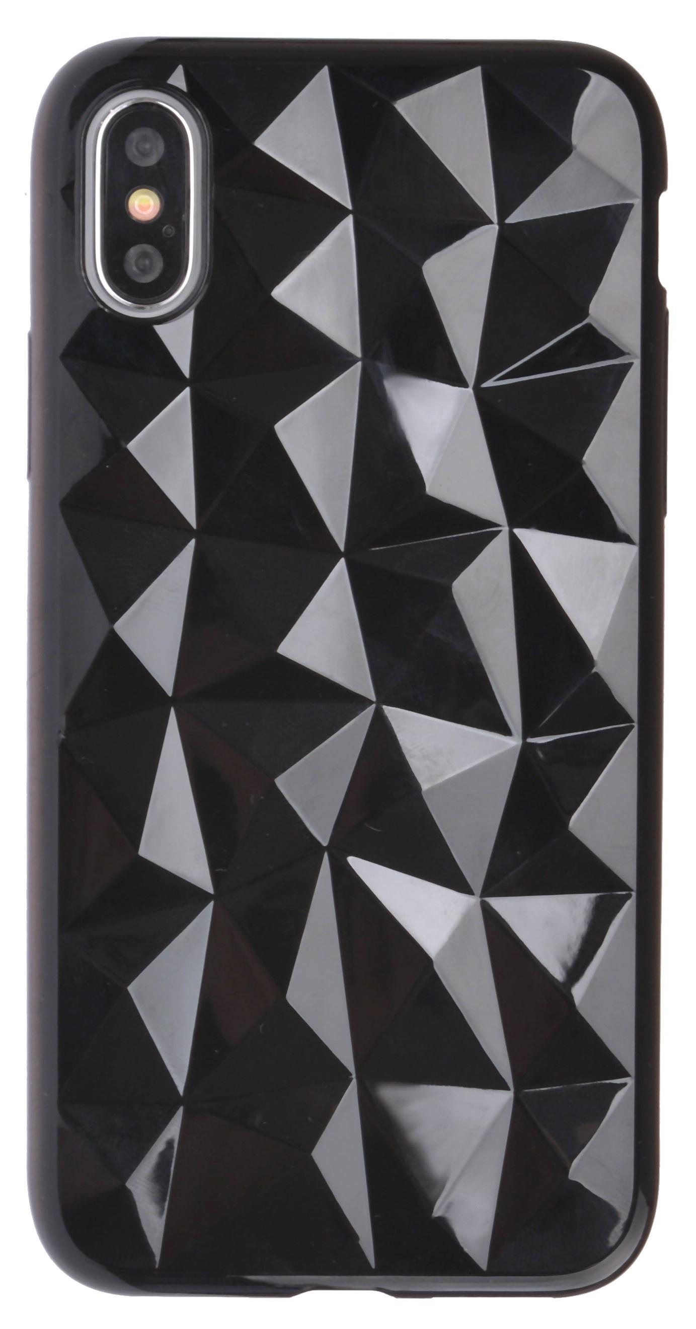 Чехол-накладка Skinbox Diamond для Apple iPhone X, 4630042521001, черный цены