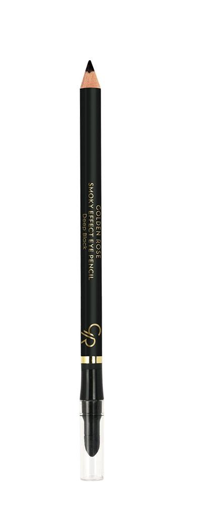 Карандаш для глаз Golden Rose SMOKY EFFECT EYE PENCILGRSEEP/черныйНовинка от Golden Rose. Карандаш Smoky Effect является практичным и легко наносится помощью мягкого наконечника. Может применяться для подводки внутреннего века. С помощью палочки губки можно растушевывать карандаш для придания дымчатого эффекта.