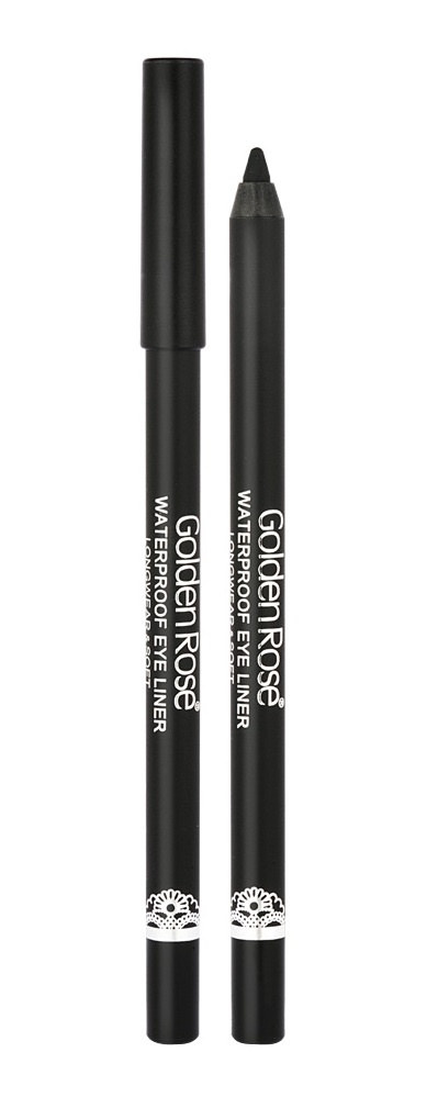 Стойкий карандаш для глаз Golden Rose Waterproof Eyeliner Longwear Soft Ultra Black, черный стойкий карандаш для глаз golden rose waterproof eyeliner longwear soft ultra black черный