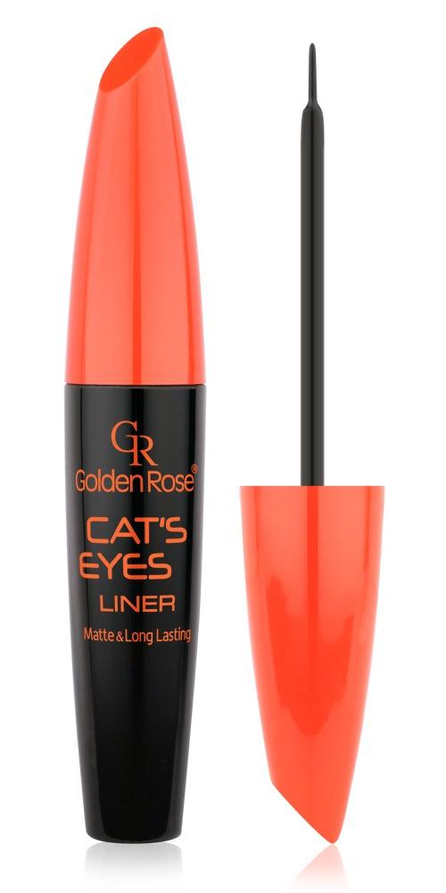 Черная подводка для глаз Cатs eyes, Golden Rose подводка для глаз golden rose черный