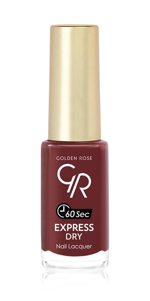 купить Лак для ногтей Golden Rose Express Dry 60 sec. Тон 82 красно-коричневый по цене 220 рублей