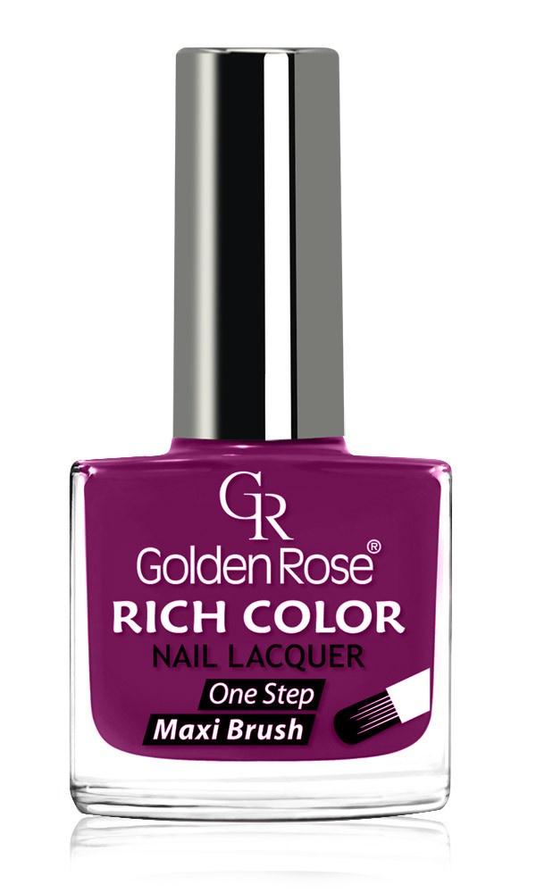 Лак Golden Rose Rich Color. Тон 31GRRCL-31/31Высочайшего качества линия лаков для ногтей Golden Rose RICH COLOR всего за одно покрытие придаст ногтям глянцевый блестящий вид на длительное время. Удобен в применении благодаря специальной плоской и широкой кисточке, которая прокрашивает ногтевую пластинку с первого раза. 83 модного варианта цветов завершат ваш незабываемый образ, создавая уникальный маникюр. Лак Golden Rose Rich Color объемом 10,5 мл.
