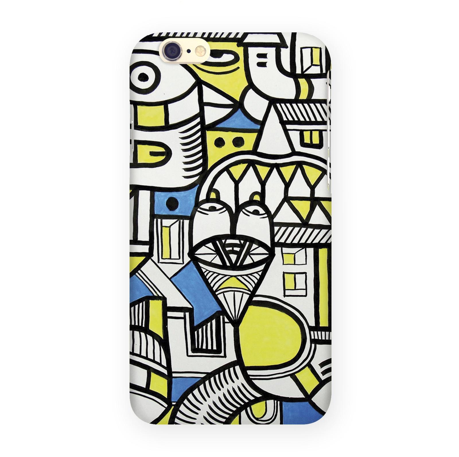 Чехол Mitya Veselkov Сине-желтое граффити для Iphone 6, IP6.MITYA-271 чехол для iphone 6 mitya veselkov жостовский узор 1