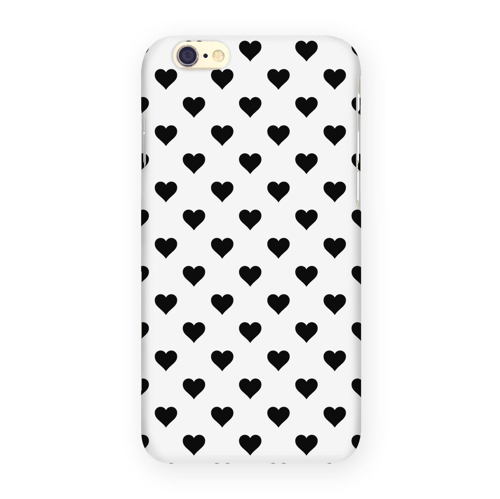 Чехол Mitya Veselkov Черные сердечки на белом, IP6.MITYA-321, для iPhone 6 чехол для iphone 6 mitya veselkov жостовский узор 1