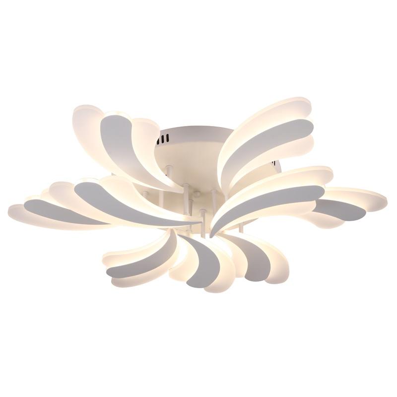 Потолочный светильник Profit Light 1255, белый1255/6+3 WTСветодиодная люстра 1255/6+3 WT Используемые лампочки - LED - 162W Диапазон света - 2700-6500 K Пульт управления - Есть Диммирование - Есть Количество лампочек - 9 Площадь освещения - 16-23 кв.м. Цвет арматуры - Белый Габариты - ?770*150 мм. Вес - 4.3 кг.