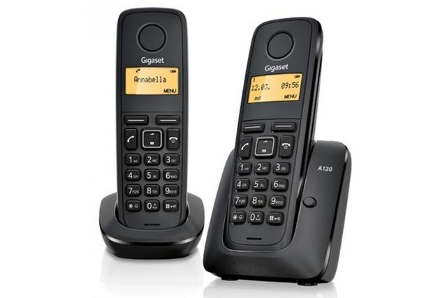 Радиотелефон Gigaset A120 DUO RUS, L36852-H2401-S301, черный