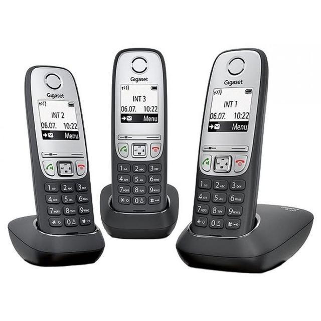 Радиотелефон Сименс Gigaset A415 TRIO RUS Black, L36852-H2505-S311, черный