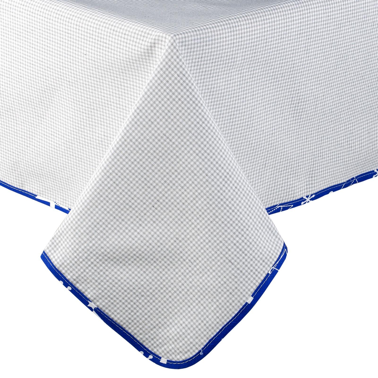 "Скатерть Традиция ""Лофт"", 2053/Синий, серый, синий, 145 х 145 см"