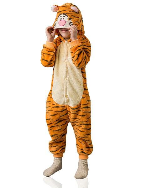 Кигуруми детский TipTop Тигруля, оранжевый, размер 120
