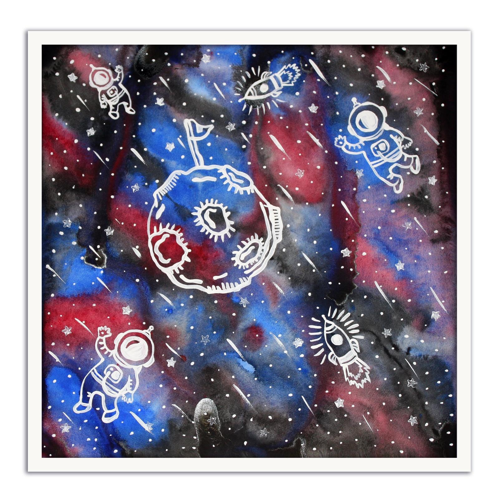 Картина The White Garden TVER Космонавты, белый картина фото