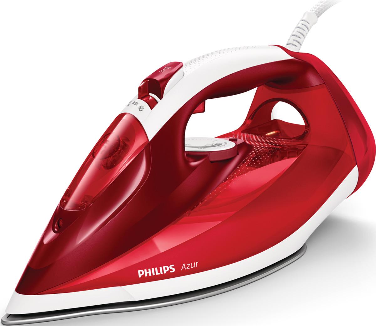Утюг Philips Azur GC4542/40 утюг philips 2500 вт удар 200г подача 45 г мин подошва steamglide plus красный белый