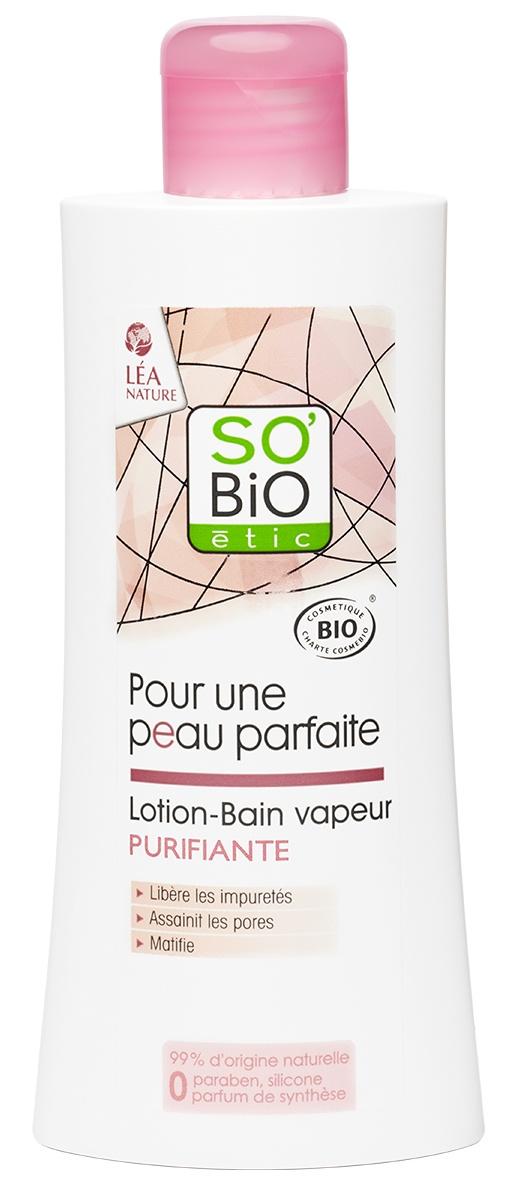 Лосьон для ухода за кожей SO'BIO etic Очищающий лосьон для лица000393Натуральное средство для второго этапа ухода за комбинированной и жирной кожей. Завершает очищение, тонизирует и освежает кожу. На основе органической цветочной воды гамамелиса, которая уменьшает воспаления и сужает поры. Молочная кислота восстанавливает кислотно-щелочной баланс кожи. Содержит органический экстракт лотоса, который выравнивает цвет лица и обладает легким отбеливающим эффектом. Без парабенов, силиконов и синтетических отдушек, сертифицировано по стандарту ECOCERT. SO'BIO etic (СОБиО этик, Франция)– Лидер продаж сертифицированной натуральной косметики во Франции. Производится из органических ингредиентов, без ущерба для окружающей среды, животных или людей. Косметика марки адаптирована ко всем типам кожи и предназначена для ежедневного использования в любом возрасте. Продукты SO'BIO etic этик (SO'BIO etic) сертифицированы по экостандарту ECOCERT.