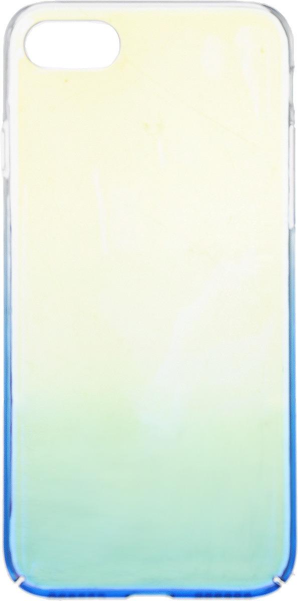 Чехол-накладка Interstep Is Bloom для Apple iPhone 7/8, Turquoise чехол накладка interstep is bloom для apple iphone 7 8 plus turquoise
