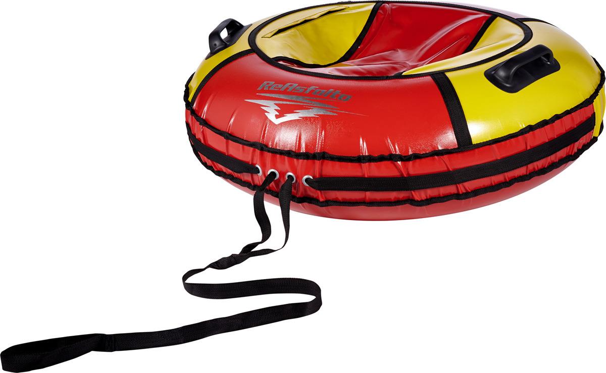 Тюбинг ReAsfalto Rodeo, 419128, красный, желтый, диаметр чехла 100 см тюбинг hubster ринг pro во4785 1 красный синий диаметр 90 см