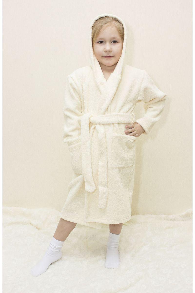 Халат детский Осьминожка, цвет: молочный. 826-04-26. Размер 86826-04-26