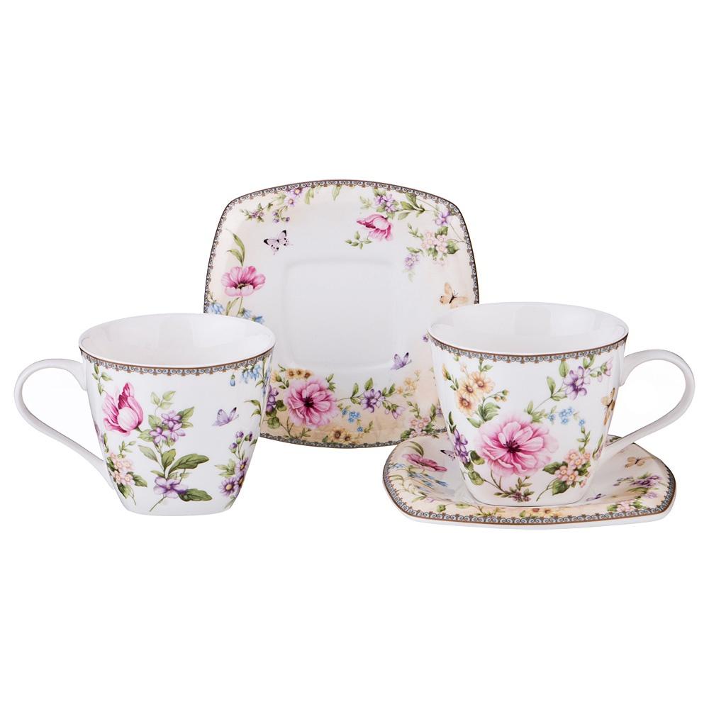 """Чайный набор на 2 персоны """"Полевые цветы"""" 220 мл"""